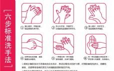 六部标准洗手法