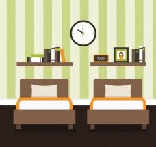 扁平化卧室