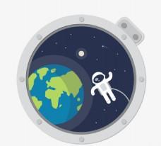 太空舱 宇航员 地球