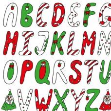 创意圣诞字母矢量图
