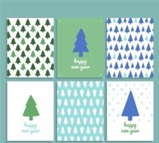 圣诞树卡片矢量素材