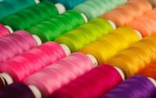 彩色毛线针织
