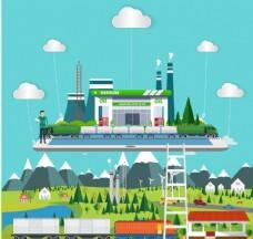 创意城市插画