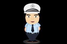 矢量人物 动画角色 警察