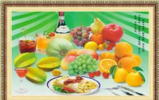 水果装饰画设计