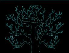 cad图块 cad装饰画 树