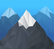 几何形雪山山顶矢量素材