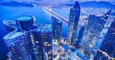 鸟瞰繁华都市