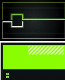 名片绿色简单艺术