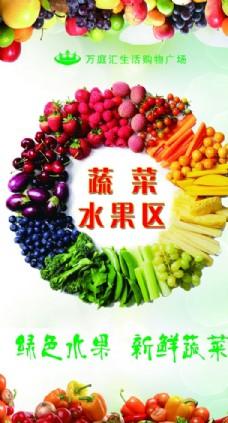 超市蔬菜水果区海报