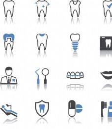 牙齿矢量图