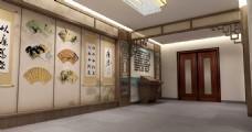 古典書房裝修效果圖