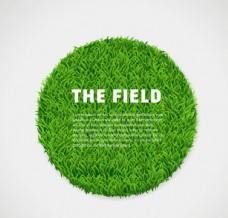 圆形绿色草坪矢量素材
