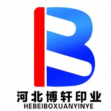河北博轩广告印刷logo