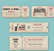 创意音乐会门票矢量素材