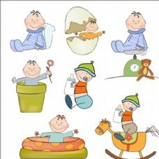 卡通婴儿设计矢量素材