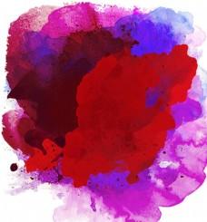 泼墨 彩色 底 水彩 元素