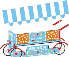 KT板制作的冰淇淋车