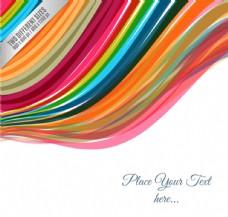 彩虹色线条背景矢量素材
