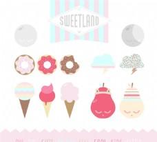美味甜品矢量素材