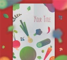 創意蔬菜購物清單矢量素材