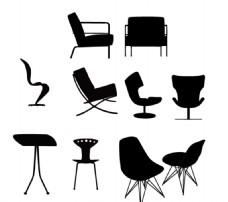 沙发 椅子剪影素材