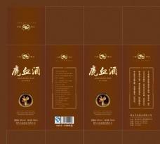 鹿血酒 酒盒设计