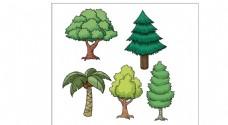 卡通树木设计素材