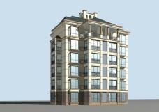 现代多层住宅区建筑3D模型设计