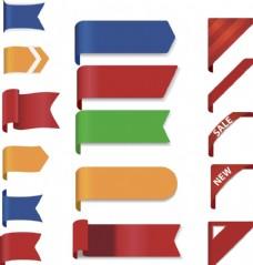 淘宝促销标签 丝带