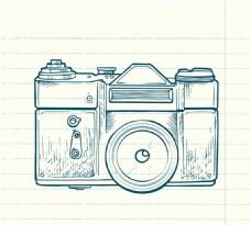 手绘数码相机矢量素材
