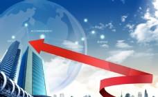 商务科技箭头指示PSD素材