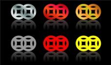 双钱 铜钱 logo 标志