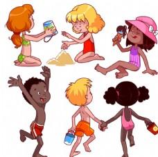 卡通快乐儿童