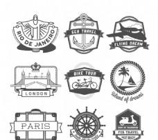 创意旅行标签矢量素材