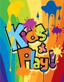 Kids at play泼油墨