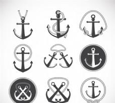 复古船锚设计矢量素材