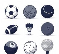 球类图标矢量素材