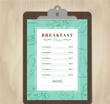 早餐菜单设计矢量素材