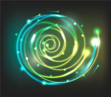 螺旋形光效背景矢量素材