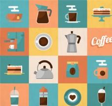 咖啡元素图标矢量素材