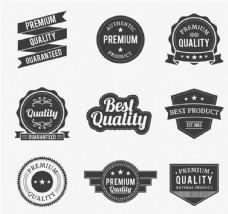 黑色优质标签设计矢量图