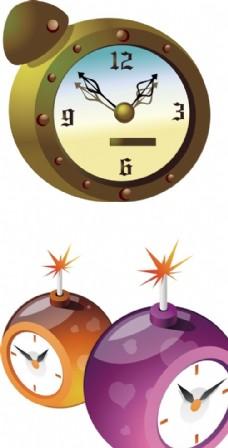 卡通手绘闹钟