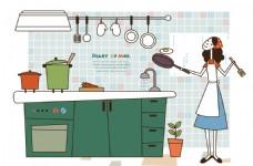 做家务的女人