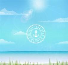 最好的假期沙滩风景矢量图