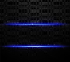 蓝色光效金属背景矢量素材