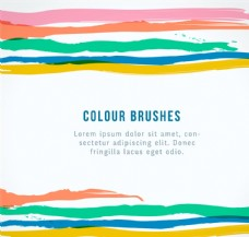 彩色水彩条纹背景矢量素材