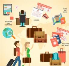 创意旅行信息图矢量素材