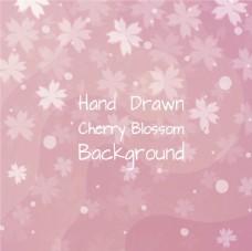 粉红色的背景与樱花