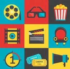 扁平化电影元素